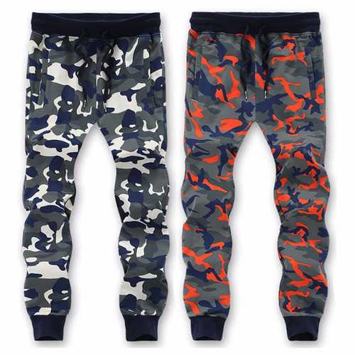 Big Size S-6XL Camouflage Running Drawstring Sweatpants Mens Casual Drawstring pants