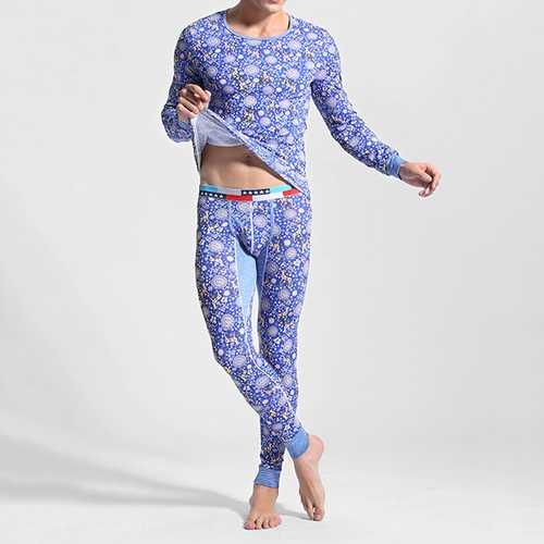 Mens Cotton Soft Elastic Thermal Underwear Long Johns