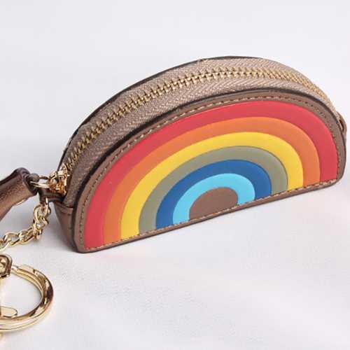 Cash Change Handbag Letter Words Leather Bag Car Cute Key Chain Ring Decoration