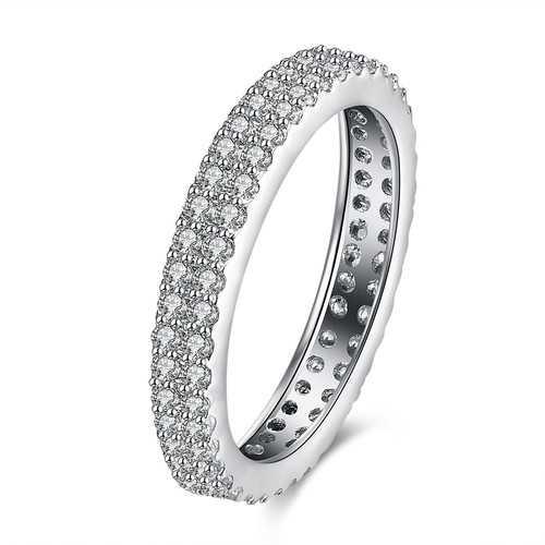INALIS Zircon Full Around Platinum Gift Wedding Finger Rings