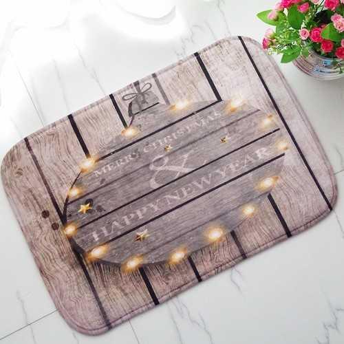 40x60cm Christmas Flannel Velvet Memory Foam Rug Absorbent Bathroom Mat Soft Non-slip Floor Carpet
