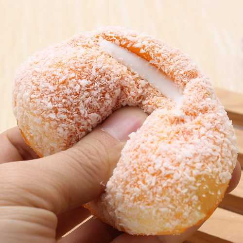12cm Squishy Soft Bread With Coconut Shred Phone Straps Decoration