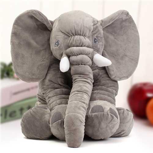 "23.5"" 60cm Cute Jumbo Elephant Plush Doll Stuffed Animal Soft Kids Toy Gift"