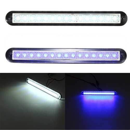 3W 12V 55LM 3200K White/Blue LED Corridor Light Aisle Lamp Waterproof for Yacht Boat