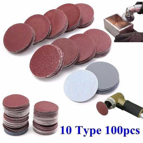 100pcs 2 Inch Sanding Discs 50mm Sander Discs 80-3000 Grit Sanding Polishing Pads Set
