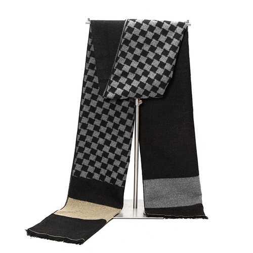Men Cashmere Imitation Tassel Scarves British Style Long Neckerchief Shawl Soft Fringe Shawl Wrap