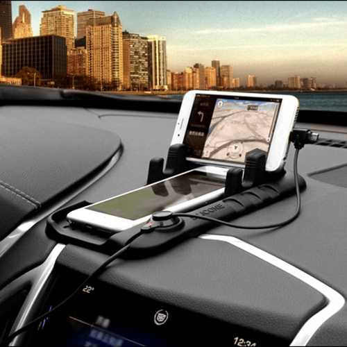 Alessi Soft Silicone Magnetic Adsorption Phone Stand Car Charging Holder for iPhone Samsung HTC