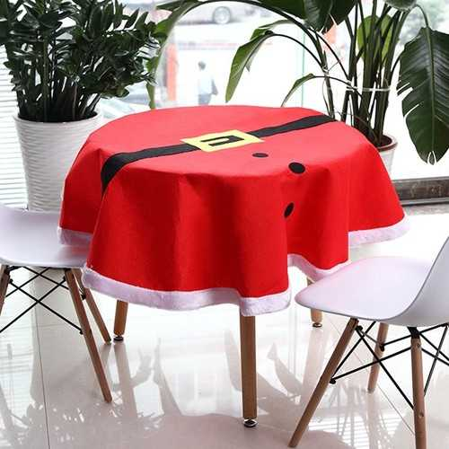 Christmas Suit Tablecloth Tableware Mat Table Runner Tablecloth Desk Cover Bowl Heat Insulation