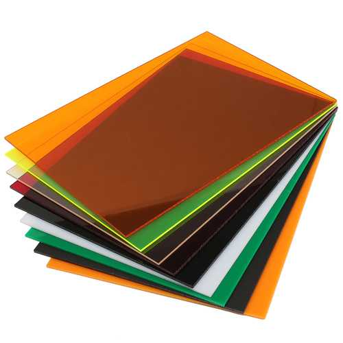420×594×5mm Acrylic Sheet Cutting Carving Plate 10-Colors