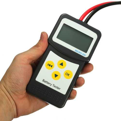 12V Car Battery Tester Automotive Vehicle Battery Analyzer AGM GEL MICRO-200