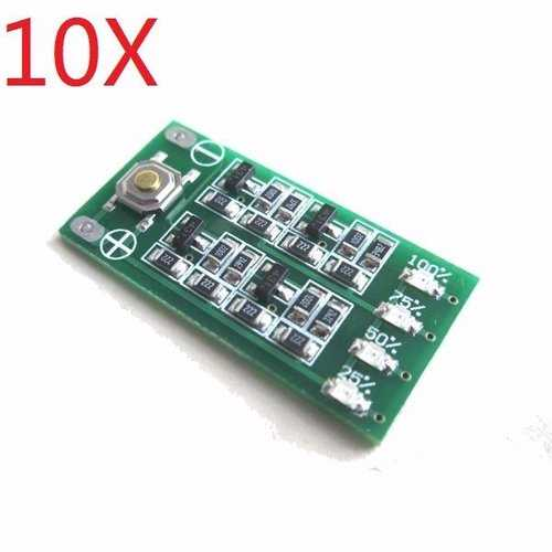 10X 3S 11.1V 12V 12.6V Lipo Battery Level Power Display Indicator Board