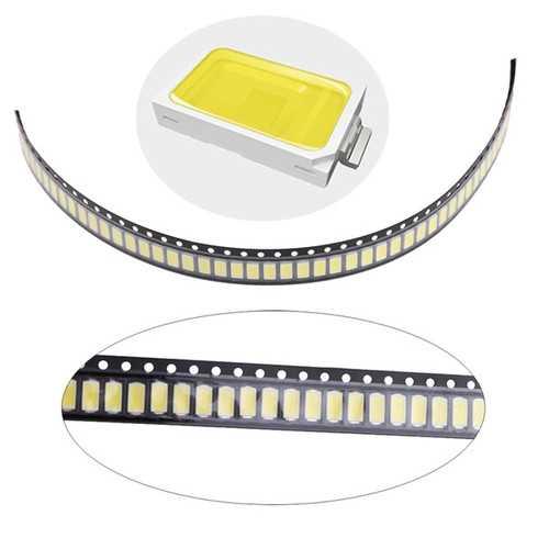 100pcs 0.5W SMD 5730 LED Lamp Chip High Power White Bead DC3-3.2V