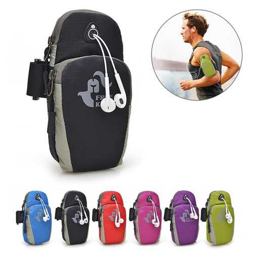 Free Knight 5.5 Inch Sports Running Arm Phone Bag Pouch With Earphone Hole For iphone 7 Plus 6s Plus