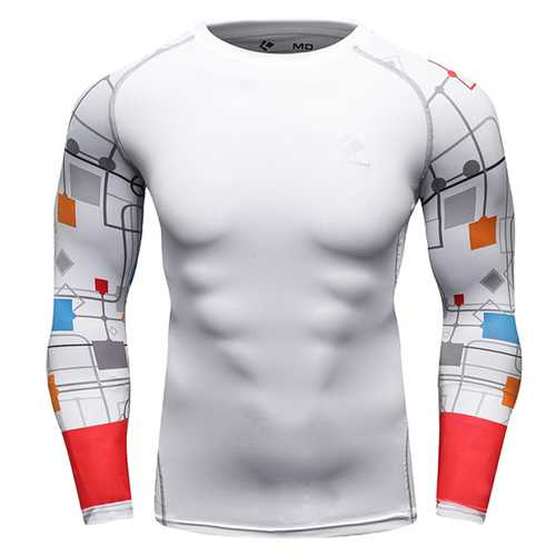 12 Styles Mens Fitness Jogging Skins Tights T-shirt