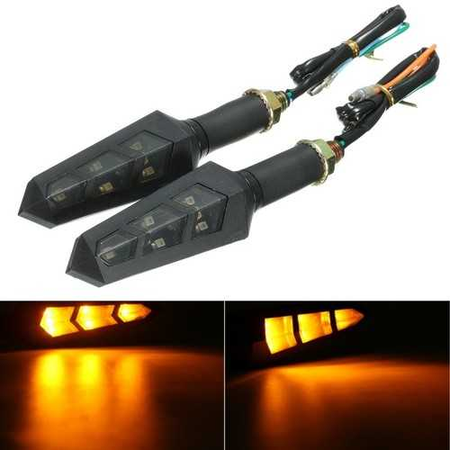 12V LED Motorcycle Bike Turn Signal Indicator Light Turning Lamp Amber Universal