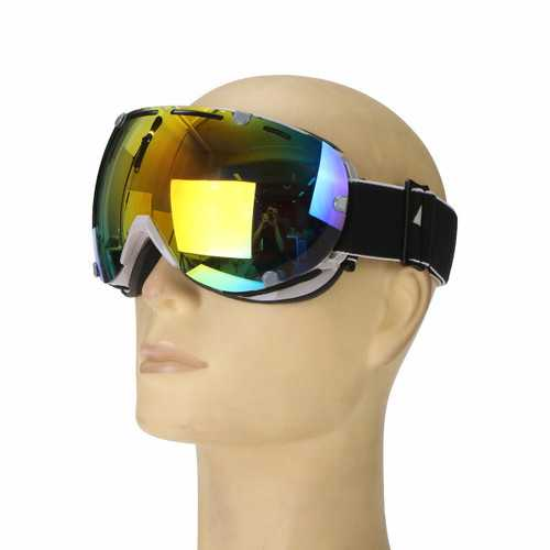 Anti Fog UV Colorful Lens Ski Motorcycle Goggle Outdooors Snow Snowboard Mountain Bike Glasses Eyewear