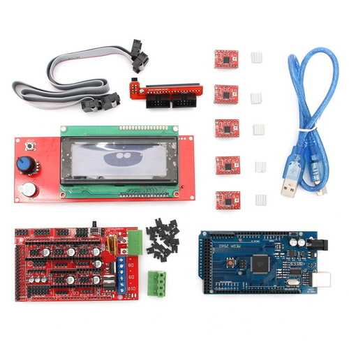 Geekcreit® RAMPS 1.4 + Mega2560 + A4988 + 2004LCD Controller 3D Printer Kit
