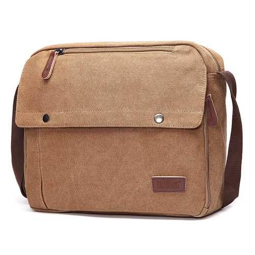 Men Large Capacity Laptop Canvas Casual Crossbody Bag Shoulder Bag