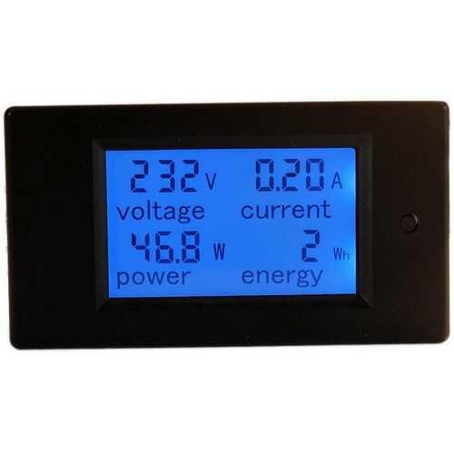 PZEM-021 4 in 1 LCD Voltage Current Active Power Energy Meter Blue Backlight Panel Voltmeter Ammeter KWH Meter 0-20A 80-260V 50/60HZ