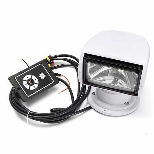 360° Rotation 12V 100W Spotlight Marine Remote Control Searchlight For Boat Truck Car