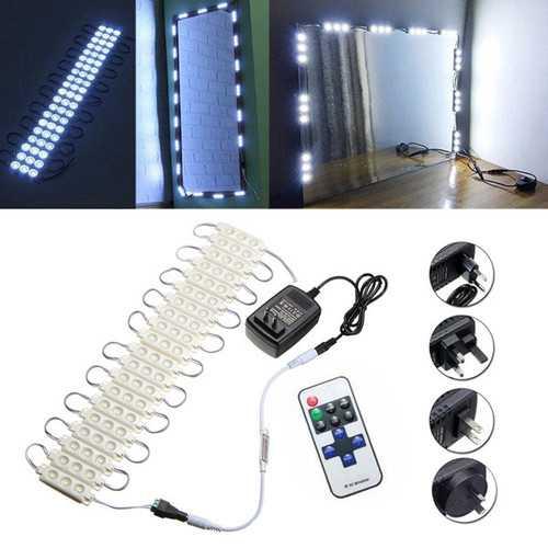 3M SMD5630 Waterproof White LED Module Strip Light Kit Mirror Signage Lamp + Adapter DC12V