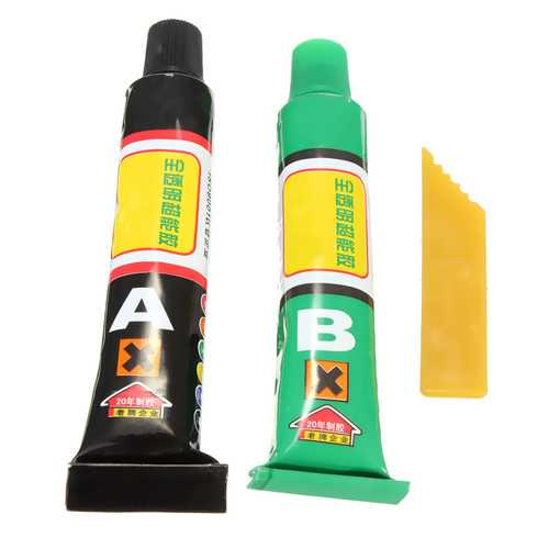10g A+B Super Strong Epoxy Clear Glue with Spatula for Phone Case Craft