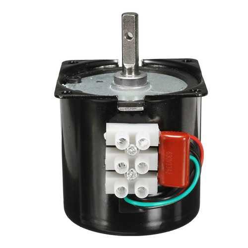 AC 220V 2.5RPM High Torque Gear-Box Electric Synchronous Gear Motor