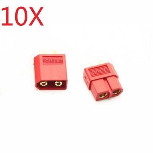 10 Pair XT60 Red Male Female Bullet Connectors Plugs For RC Battery