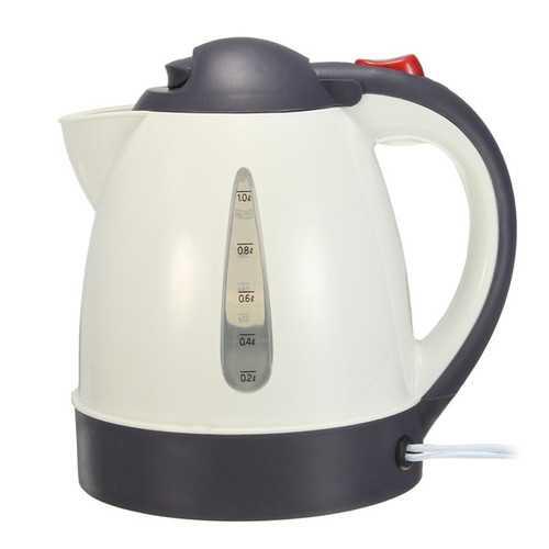 1000mL 12V/24V 304 Stainless Car Water Heater Kettle with Cigarette Lighter Plug