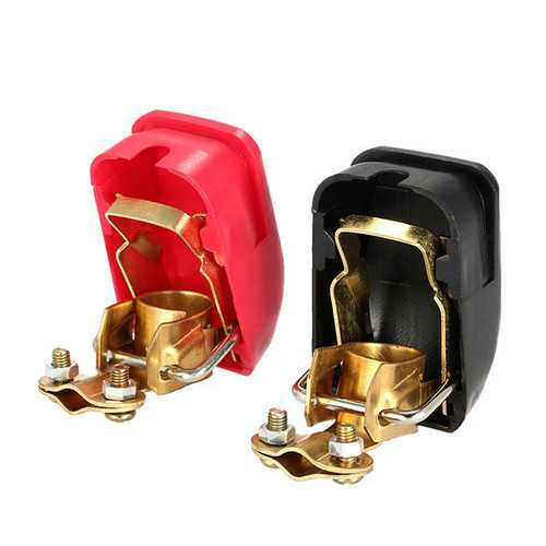 Pair of 12V Quick Release Battery Terminals Clamps for Car Caravan Boat Motor Home
