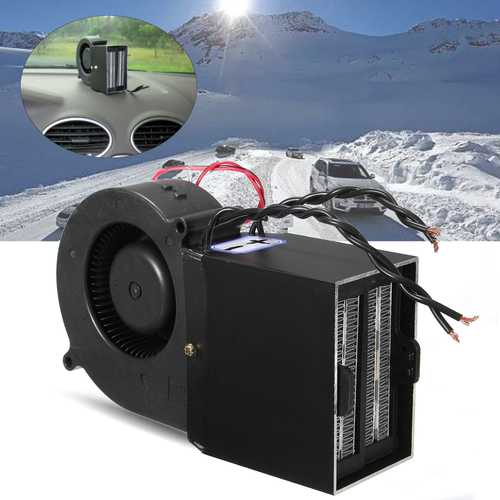 12 PTC 300w 500w Car Portable Adjustable Heating Heater Fan Defroster Demister