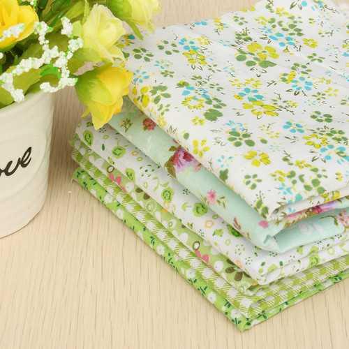 "6PCS 10"" Squares Quilt Fabric For DIY Craft Pre Cut Cotton Fabric Patchwork"