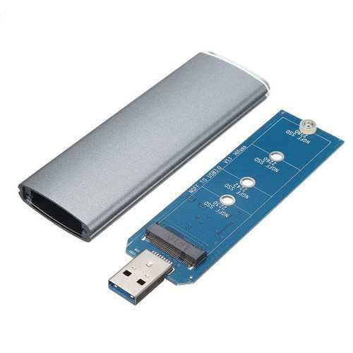M.2 NGFF SSD SATA To USB 3.0 Converter Adapter External Enclosure Storage Case