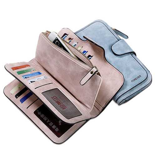 14 Card Slots Woman Four Fold Wallet Purse Card Bag
