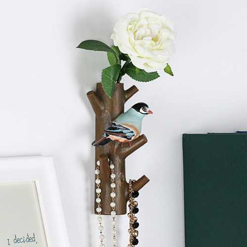 Creative Resin Flower Bird Tree Shape Hook Home Hangers Stand Decoration