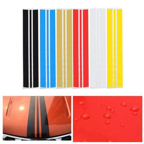 130x25cm PVC Pinstripe Decals Sticker Auto Hood Scratched Decoration