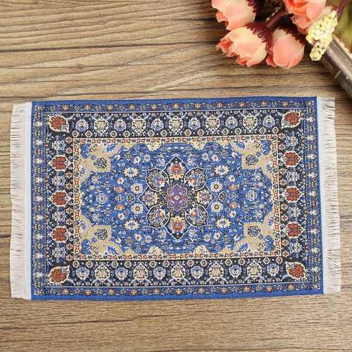 1/12 Dollhouse Turkish Carpet Rug 10x15cm Miniature Dollhouse Accessories Decor TCS001 TCS002