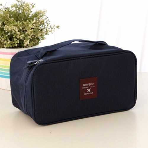 Fashion Double Layer Underwear Cosmetic Storage Bag Makeup Tool Box Multifunctional Storage Package