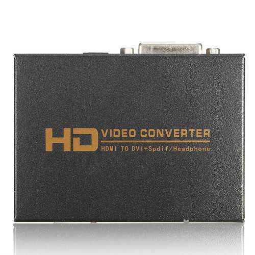 1080P Full HD HD to DVI Spdif Headphone Audio Video Converter 5.1CH 2.0CH