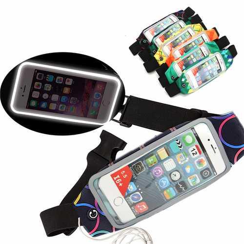 Sport Colorful Adjustable Waist Belt Reflective Stripe Waterproof Waist Bag for Phone Under 5.5-inch