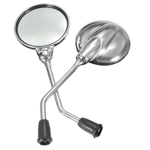 8mm Chrome Round Rear View Rear View Side Mirrors Motorcycle Dirt Bike