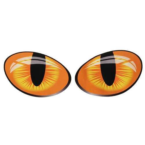 Big 3D Funny Cat Eyes Reflective Motorcycle Car Stickers Window Door Decal 10x8cm