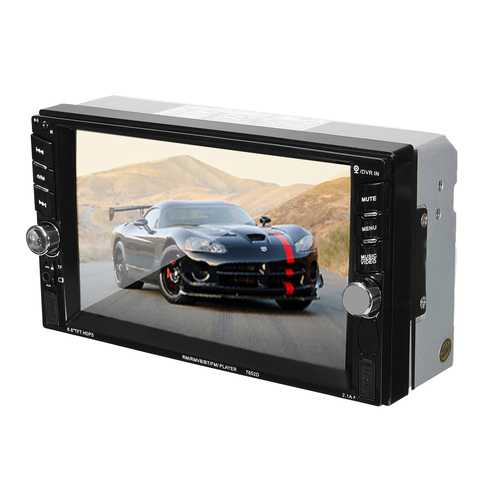 6.6 Inch Touch Screen 2 Din Car FM Radio SD TF MP5 Stereo Player bluetooth Camera