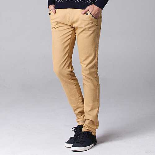 Big Size 30-44 Fashion Korean Casual Straight Slim Pants Men's  Solid Color Trousers