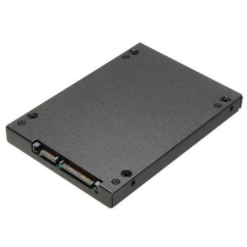 """Micro SATA 1.8"""" to 2.5"""" SATA HDD Hard Drive Card Converter Adapter HDD Hard Disk Metal Case"""