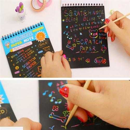 Fun Puzzle DIY Doodling Scrapbook Painting Book Kids Children Educational Toys