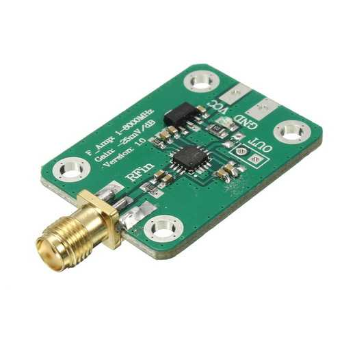 1-8000MHz AD8318 RF Logarithmic Detector 70dB RSSI Measurement Power Meter