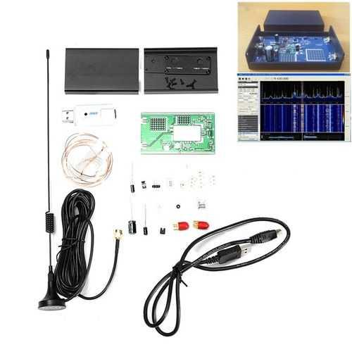 100KHz-1.7GHz Full-Band Software Radio HF FM AM RTL-SDR Receiver Radio Frequency Modulation Kit