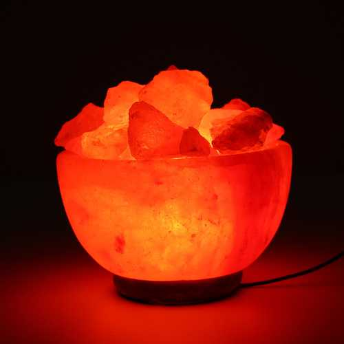 Crystal Himalayan Natural Salt Rock Night Light Tea Light Air Purifying Table Lamp