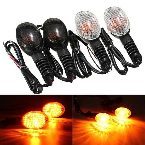 Front Rear LED Turn Signal Light For KAWASAKI EX250R NINJA KLX250SF VN650